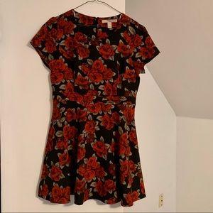 Roses A-Line F21 Dress